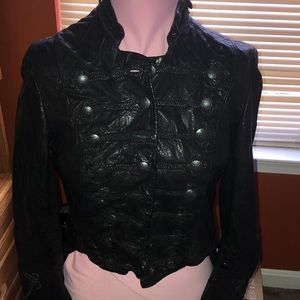All saints leather Military jacket